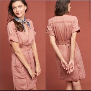 Pilcro Cargo Short Sleeve Mini Dress Small